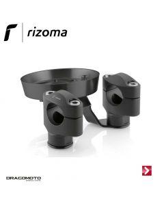 Riser kit for tapered handlebar with instrumentation support Black AZ203B
