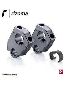 Raised and swept-back risers Silver Rizoma AZ451D