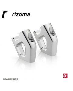 Raised and swept-back risers Silver Rizoma AZ453A