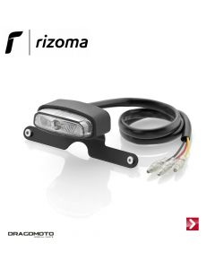 Rear light with license plate and brake light Black Rizoma EE130B